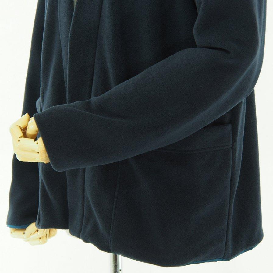 ts(s) ティーエスエス - Lined Easy Cardigan - Viscose Fleece Jersey - Navy