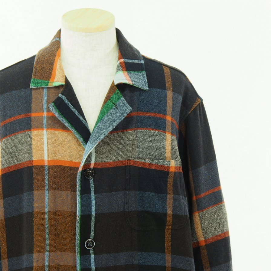 ts(s) ティーエスエス - Shirt Coat - Large Pitch Color Plaid - Navy