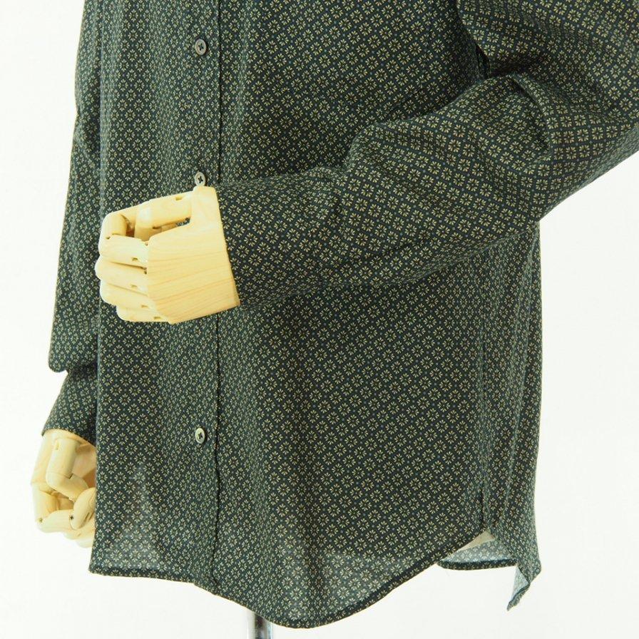 ts(s) ティーエスエス - Crest Print Cotton Cloth B.D. Shirt - Navy