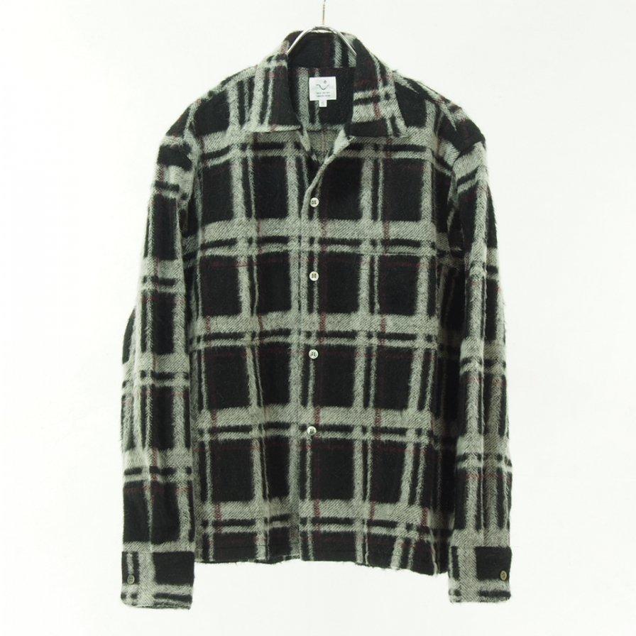 the conspires コンスパイアーズ - Long Sleeve Checked Shirt - Black / White