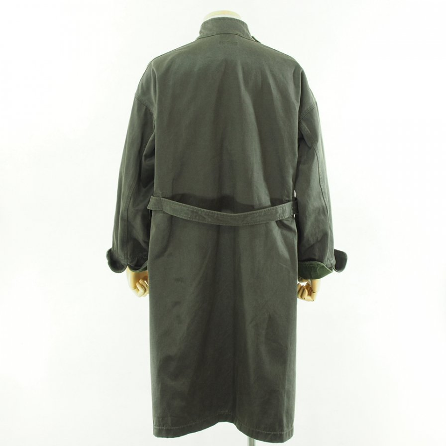 Engineered Garments エンジニアドガーメンツ - MG Coat - Coated Twill - Dk.Olive