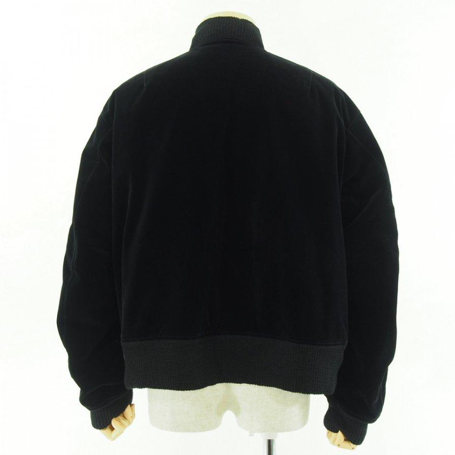 Engineered Garments エンジニアドガーメンツ - SVR Jacket W/Tape - Flocked Velveteen - Black