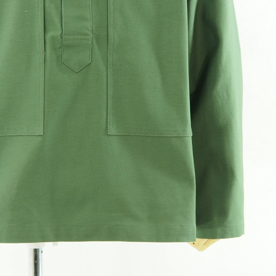 EG WORKADAY イージーワーカデイ - Army Shirt - Reversed Sateen - Olive