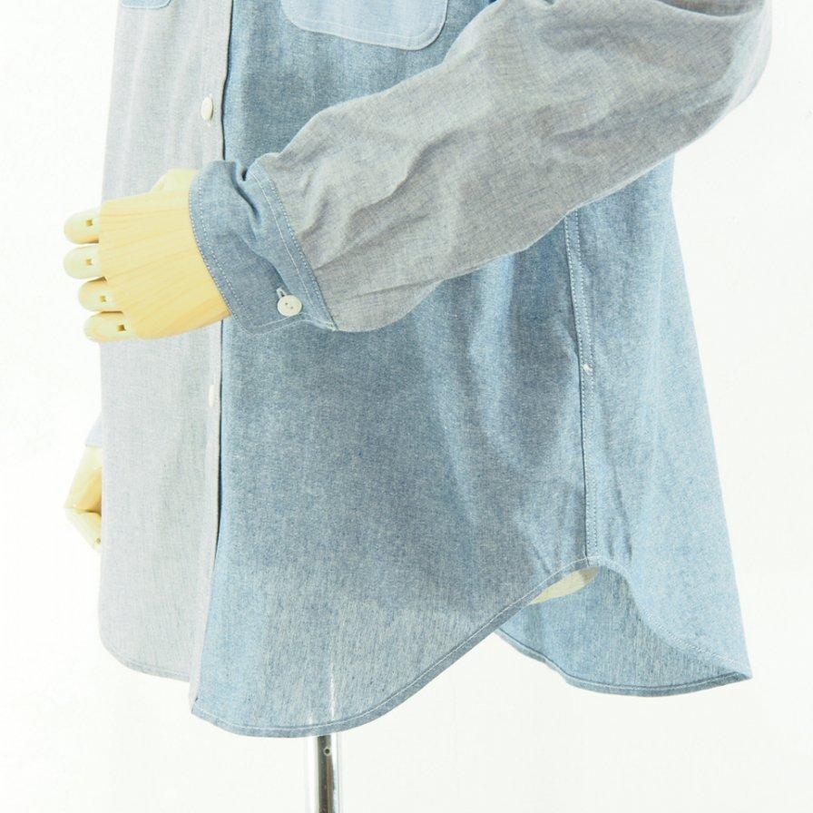 EG WORKADAY イージーワーカデイ - Utility Shirt - Chambray - Blue