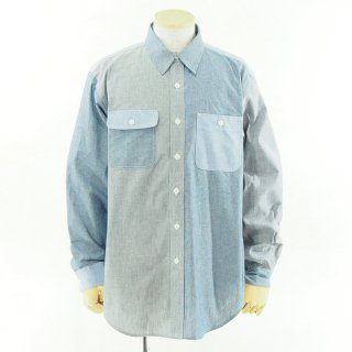 EG WORKADAY イージーワーカデイ - Utility Shirt - Chambray - Blue
