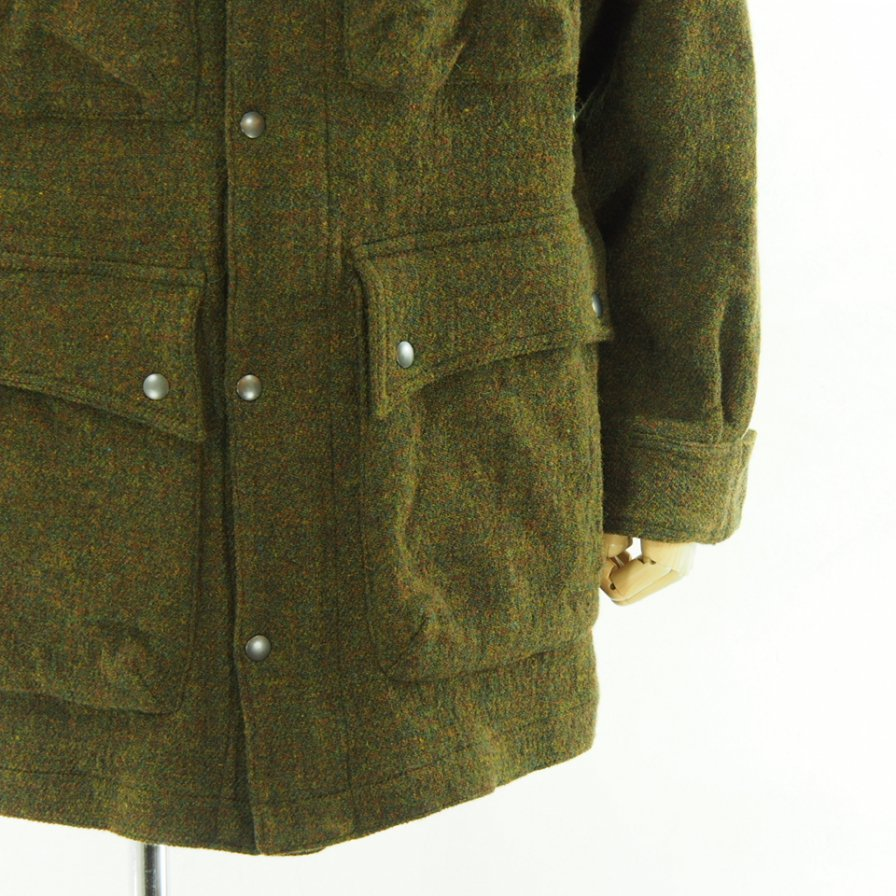 ts(s) ティーエスエス - 4 Patch Pocket Mountain parka - Tweed & Cotton Nylon Stretch Double Cloth - Olive