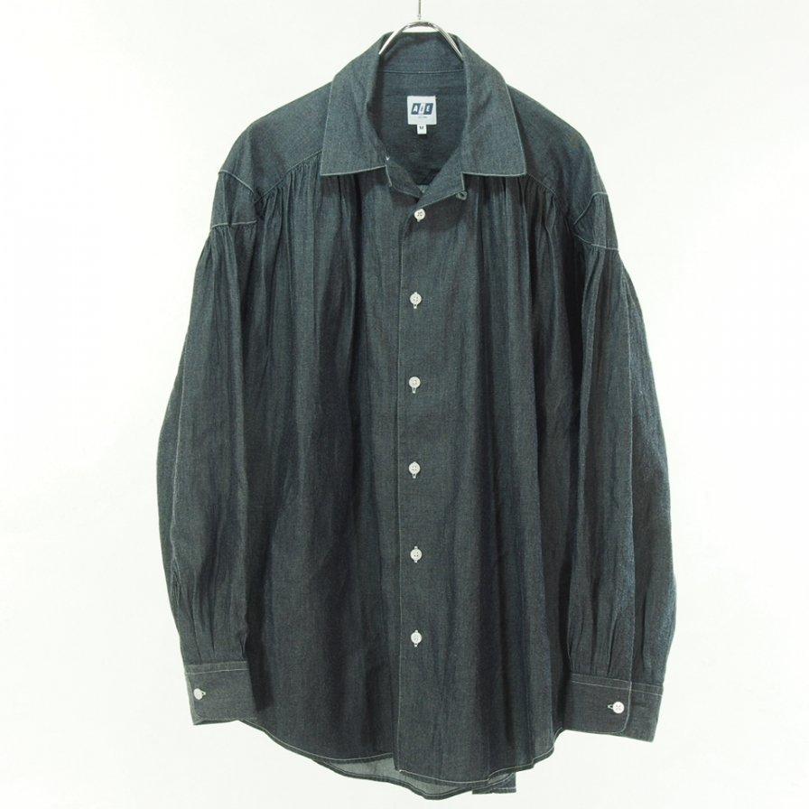 AiE エーアイイー - Painter Shirt - 2/1 Denim Twill - Navy