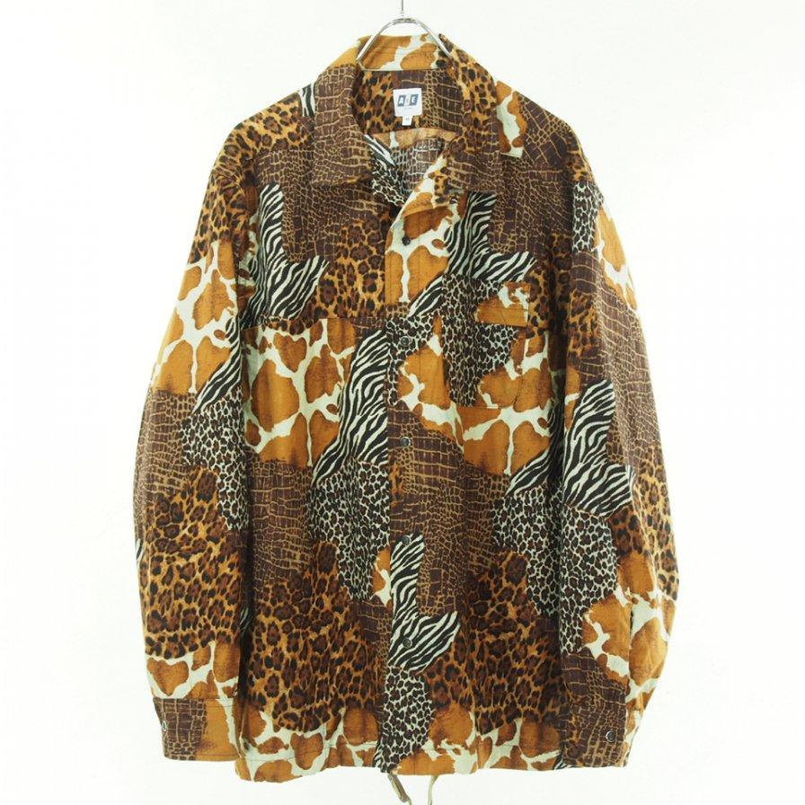 AiE エーアイイー - Coach Shirt - Animal Patchwork - Brown Multi