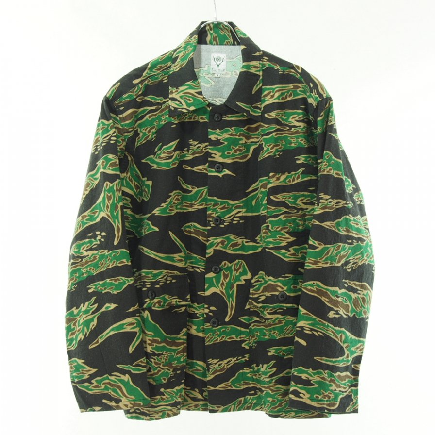 South2 West8 サウスツーウエストエイト - Hunting Shirt - Flannel Pt. - Tiger
