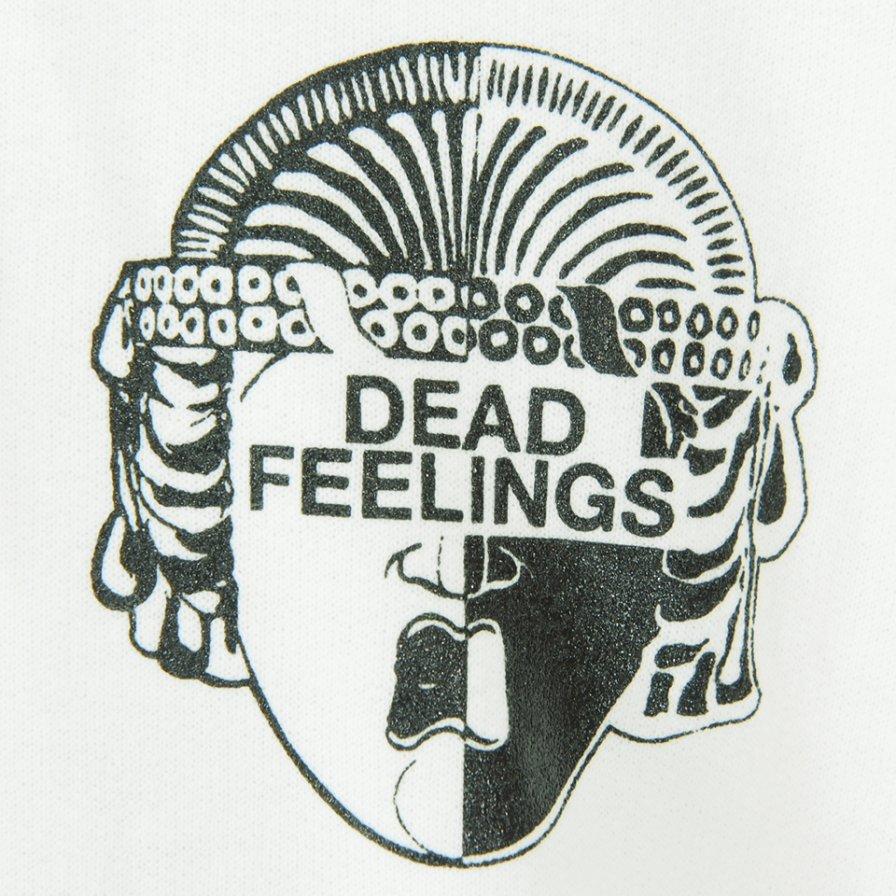 Dead Feelings デッドフィーリングス - Printed Hoody - Triangle Revolver - White