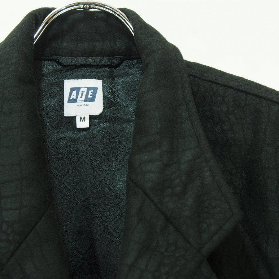 AiE エ−アイイー - EZ Jacket - Snakeskin Flocking Print - Black