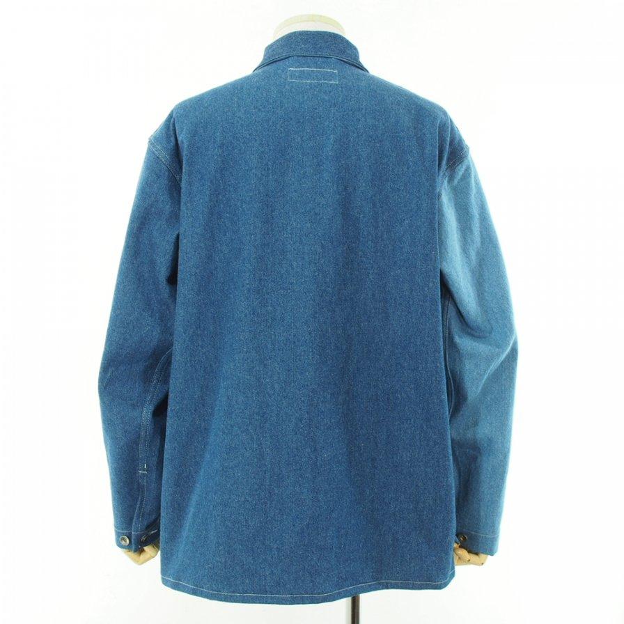 EG WORKADAY イージーワーカデイ - Utility Jacket Combo - Washed 12oz Denim - Indigo