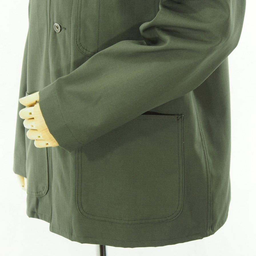 EG WORKADAY イージーワーカデイ - Utility Jacket - Cotton Ripstop - Olive