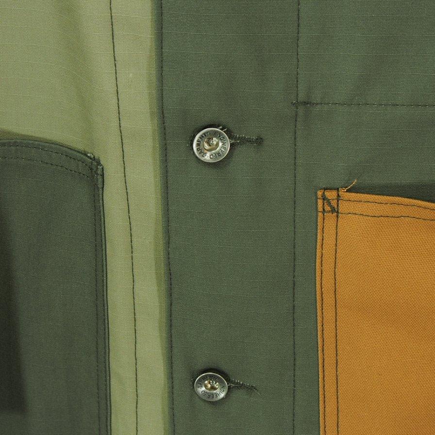 EG WORKADAY イージーワーカデイ - Shop Coat Combo - Cotton Ripstop - Olive