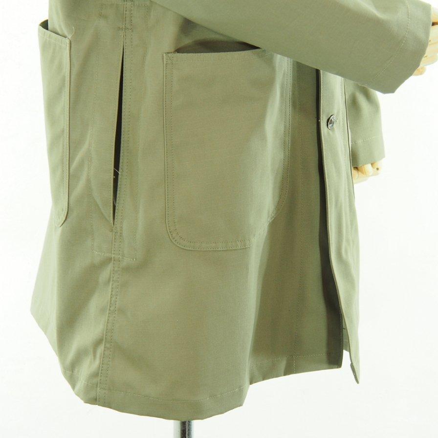 EG WORKADAY イージーワーカデイ - Shop Coat - Cotton Ripstop - Khaki