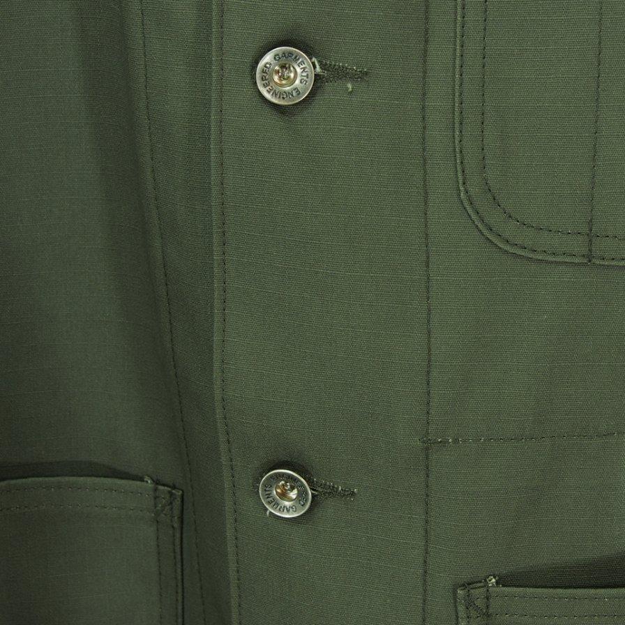 EG WORKADAY イージーワーカデイ - Shop Coat - Cotton Ripstop - Olive