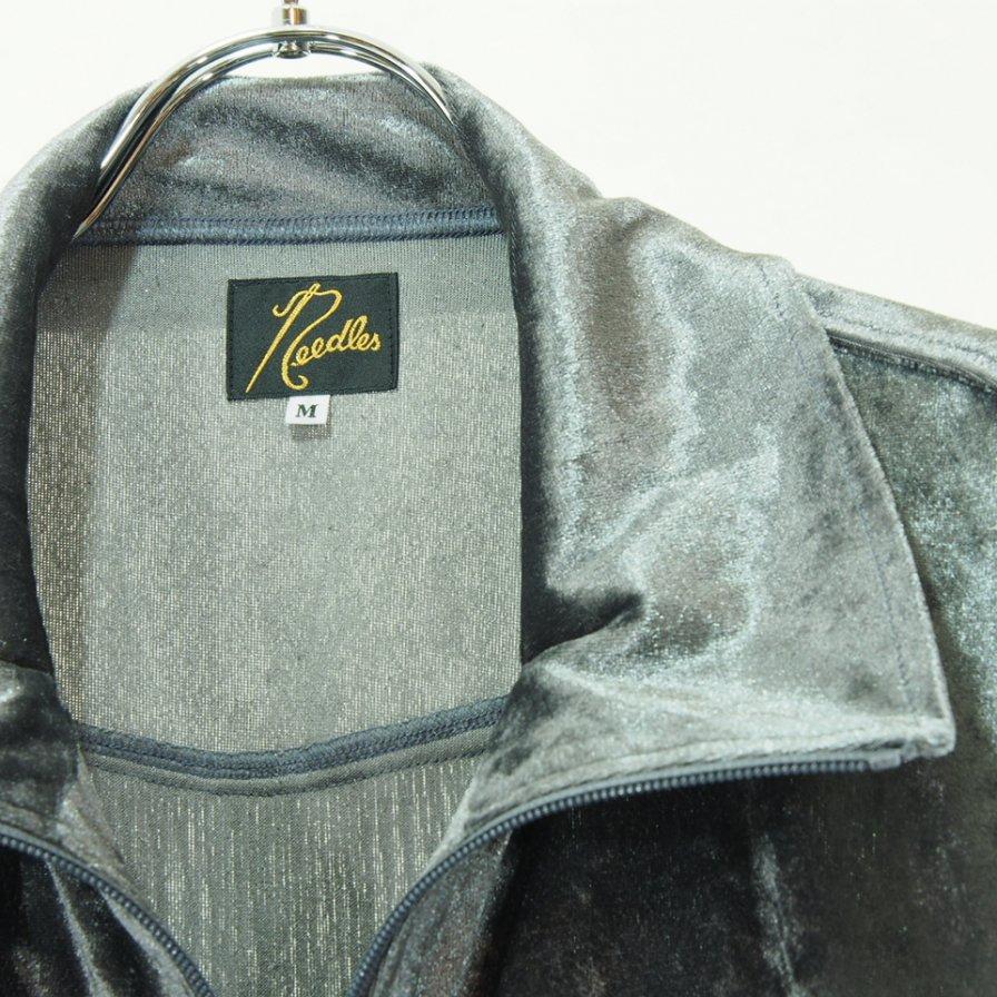 Needles ニードルズ - Fringe Track Jacket フリンジトラックジャケット - Crush Velour - Grey