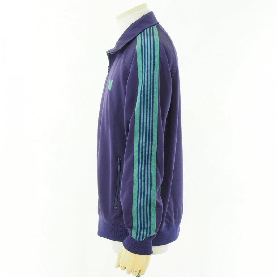 Needles ニードルズ - Track Jacket トラックジャケット - Poly Smooth - Eggplant