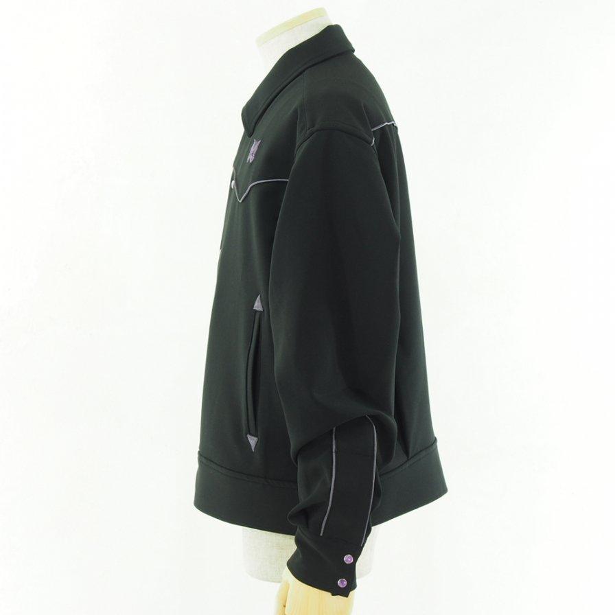 Needles ニードルズ - Piping Cowboy Jac パイピングカウボーイジャケット - Pe/Pu Double Cloth - Black
