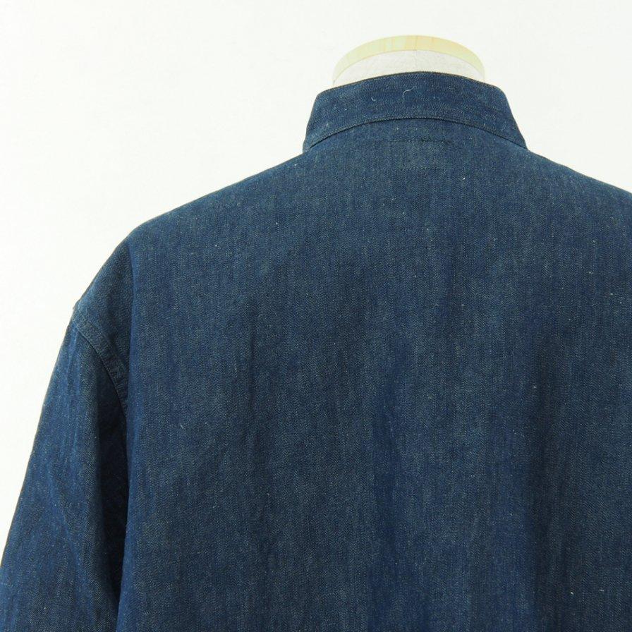 Needles ニードルズ - S.C. Army Shirt スタンドカラーアーミーシャツ - 11oz C/L Denim
