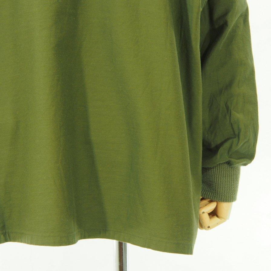 Needles ニードルズ - S.C. Army Shirt スタンドカラーアーミーシャツ - Back Sateen - Olive