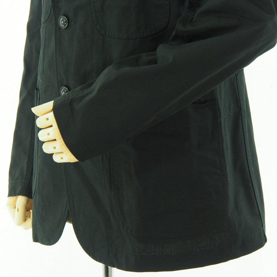 Engineered Garments エンジニアドガーメンツ - Bedford Jacket ベドフォードジャケット - Cotton Ripstop - Black