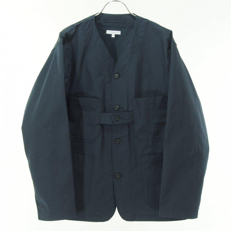 Engineered Garments エンジニアドガーメンツ - Cardigan Jacket カーディガンジャケット - High Count Twill - Dk.Navy