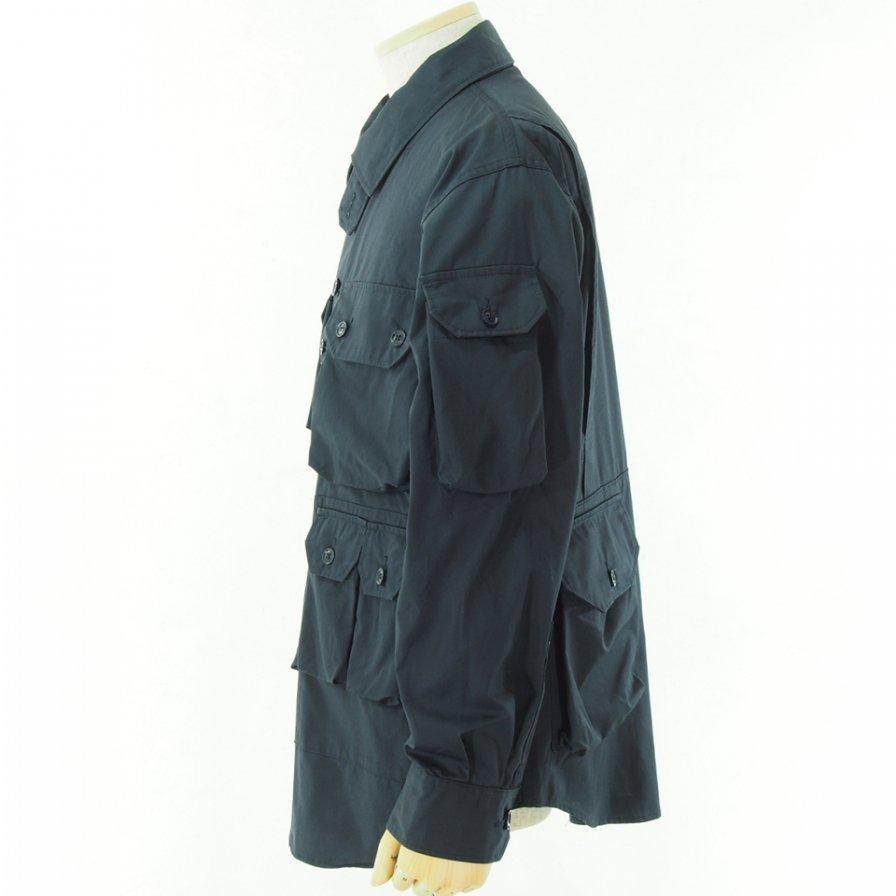 Engineered Garments エンジニアドガーメンツ - Explorer Shirt Jacket エクスプローラーシャツ - High Count Twill - Dk.Navy