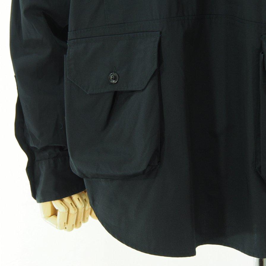 Engineered Garments エンジニアドガーメンツ - Explorer Shirt Jacket エクスプローラーシャツ - High Count Twill - Black