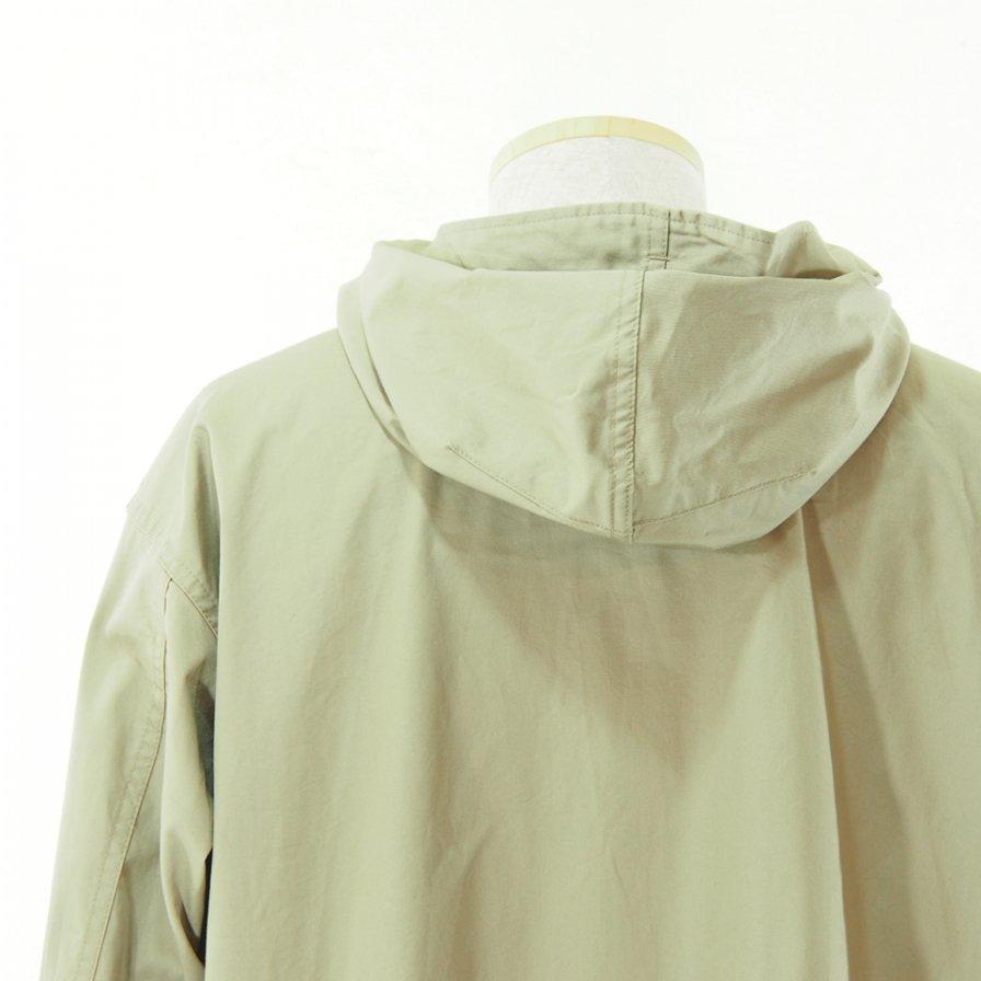 Engineered Garments エンジニアドガーメンツ - Cagoule Shirt カグールシャツ -  High Count Twill - Khaki