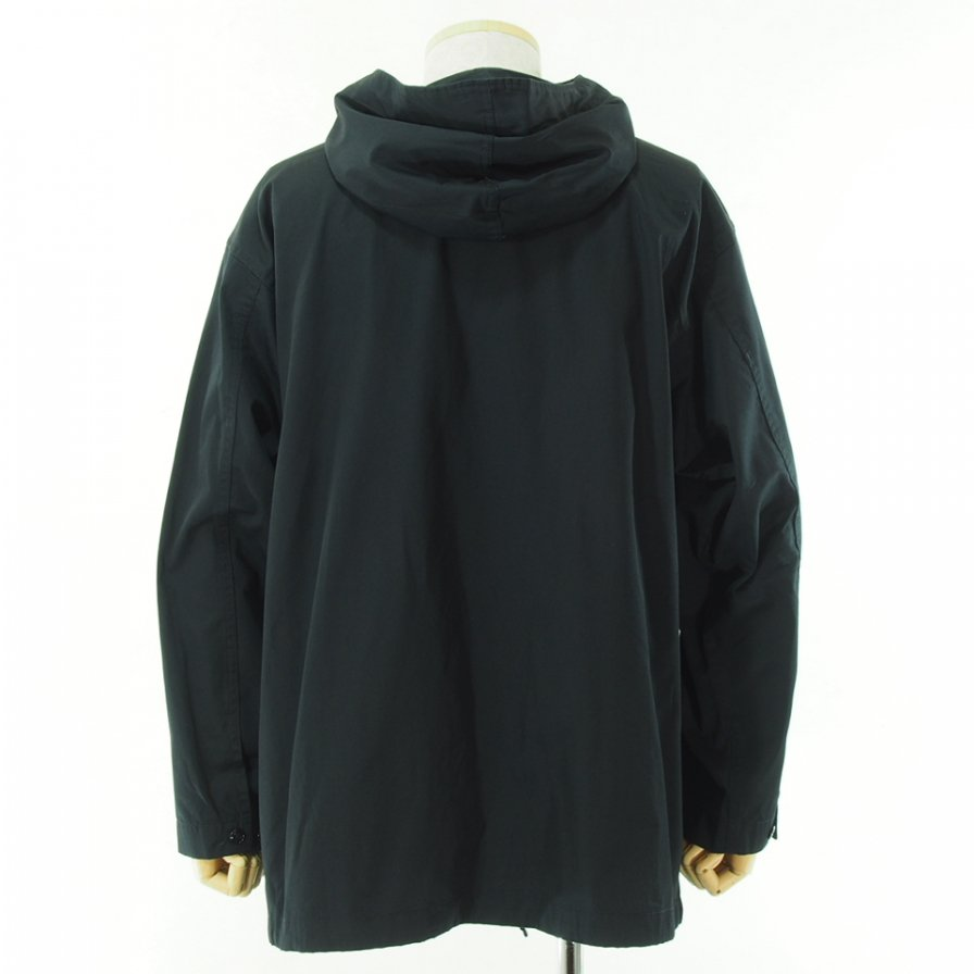 Engineered Garments エンジニアドガーメンツ - Cagoule Shirt カグールシャツ -  High Count Twill - Black