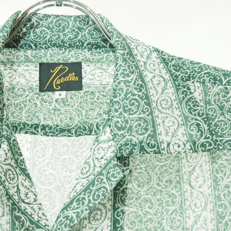 Needles ニードルズ - C.O.B. Classic Shirt カットオフボトムクラッシックシャツ - Cupra Chiffon / Pt. - Arabesque St.