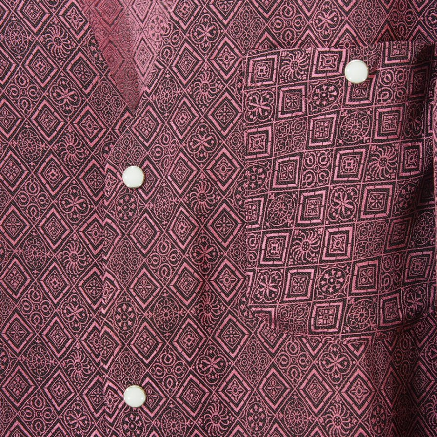 Needles ニードルズ - V Neck Cowboy Shirt ブイネックカウボーイシャツ - Fine Pattern Jq. Stripe