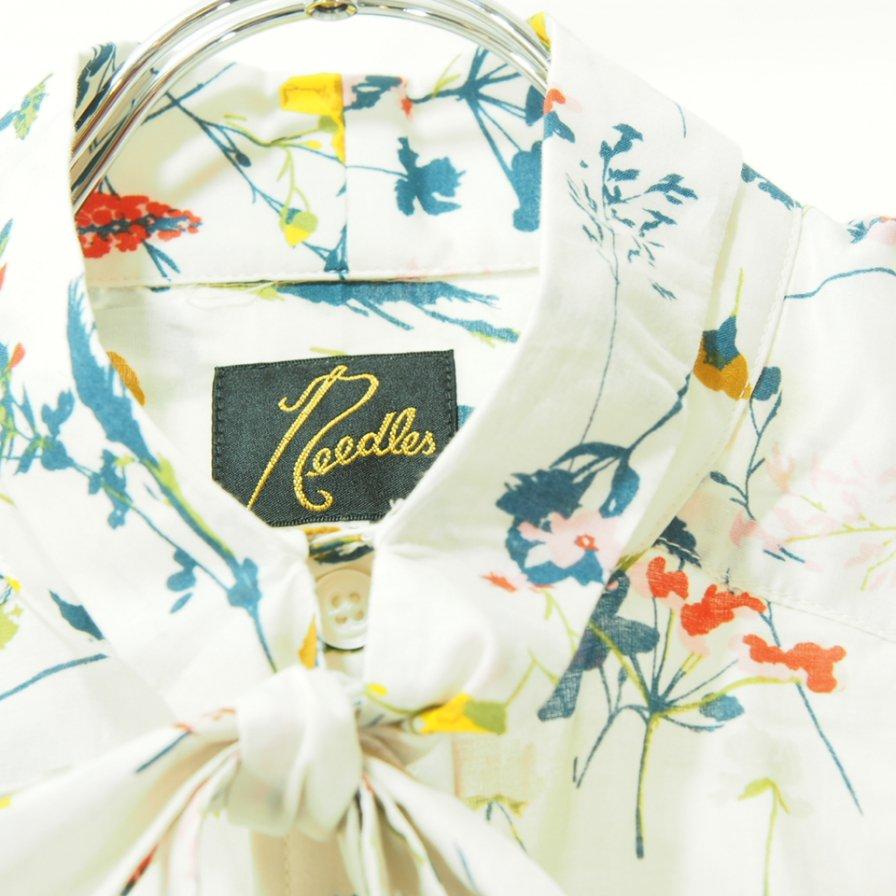 Needles ニードルズ - Ascot Collar EDW Shirt アスコットカラーエドワードシャツ - Flower Pt. - Beige