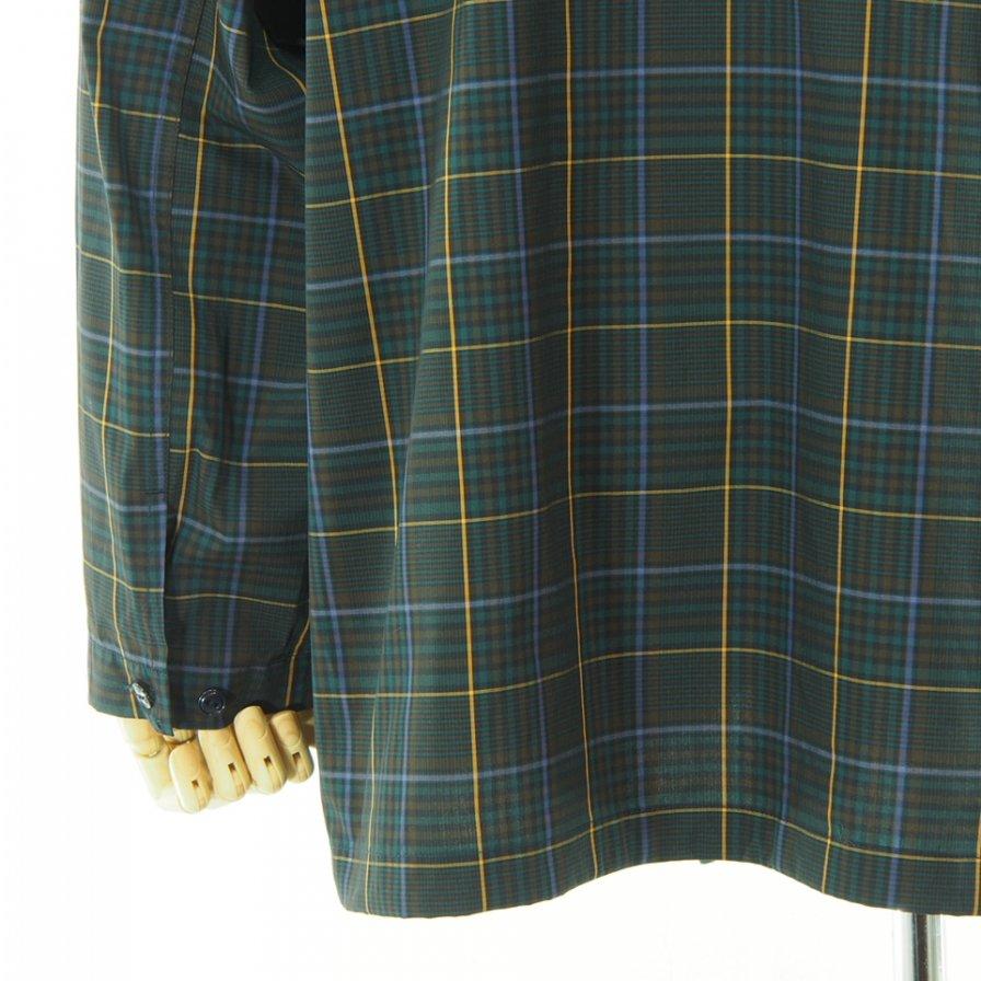 Engineered Garments エンジニアドガーメンツ - Cagoule Shirt カグールシャツ -  Polyester Rayon Glen Plaid - Dk.Brown