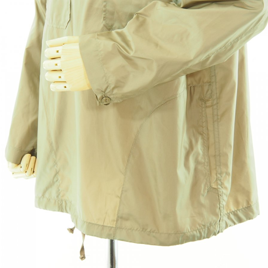 Engineered Garments エンジニアドガーメンツ - Cagoule Shirt カグールシャツ - Polyester Taffeta - Khaki