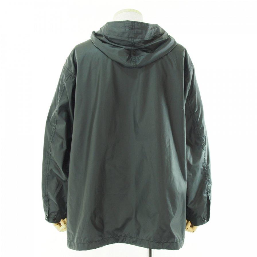 Engineered Garments エンジニアドガーメンツ - Cagoule Shirt カグールシャツ - Polyester Taffeta - Black