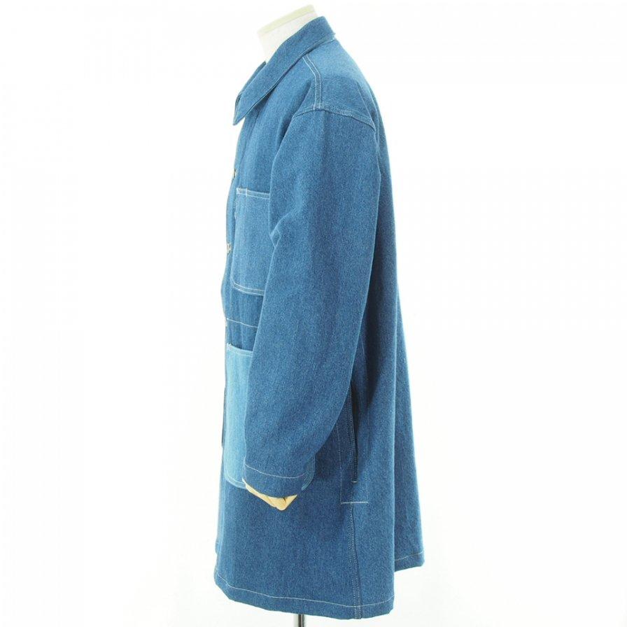 EG WORKADAY イージーワーカデイ - Shop Coat Combo ショップコートコンボ - Washed 12oz Denim - Indigo