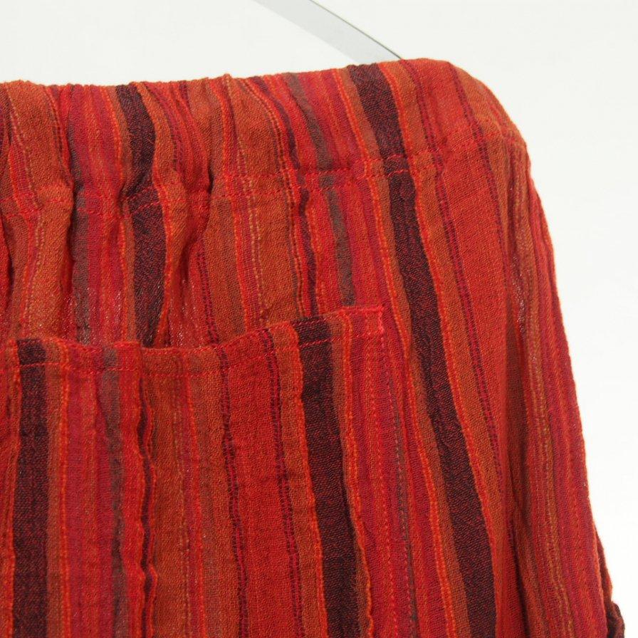 South2 West8 - String Slack Pant - Stripe Crepe - Orange