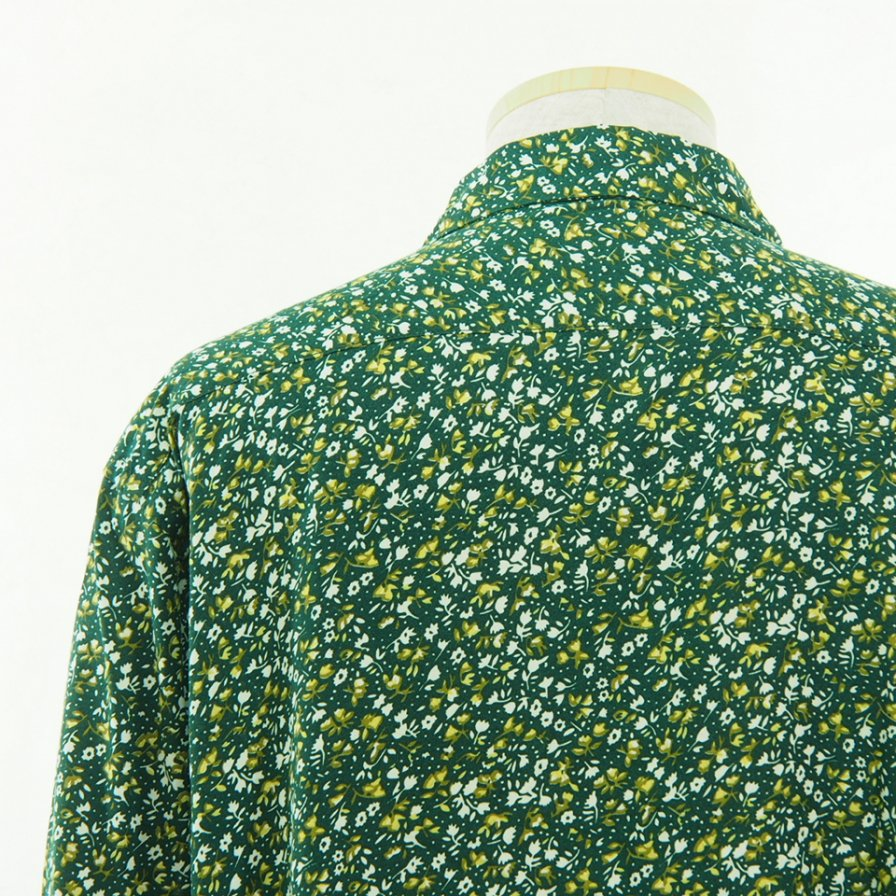 South2 West8 サウスツーウエストエイト - 6Pocket Shirt シックスポケットシャツ - Froret Print - Green