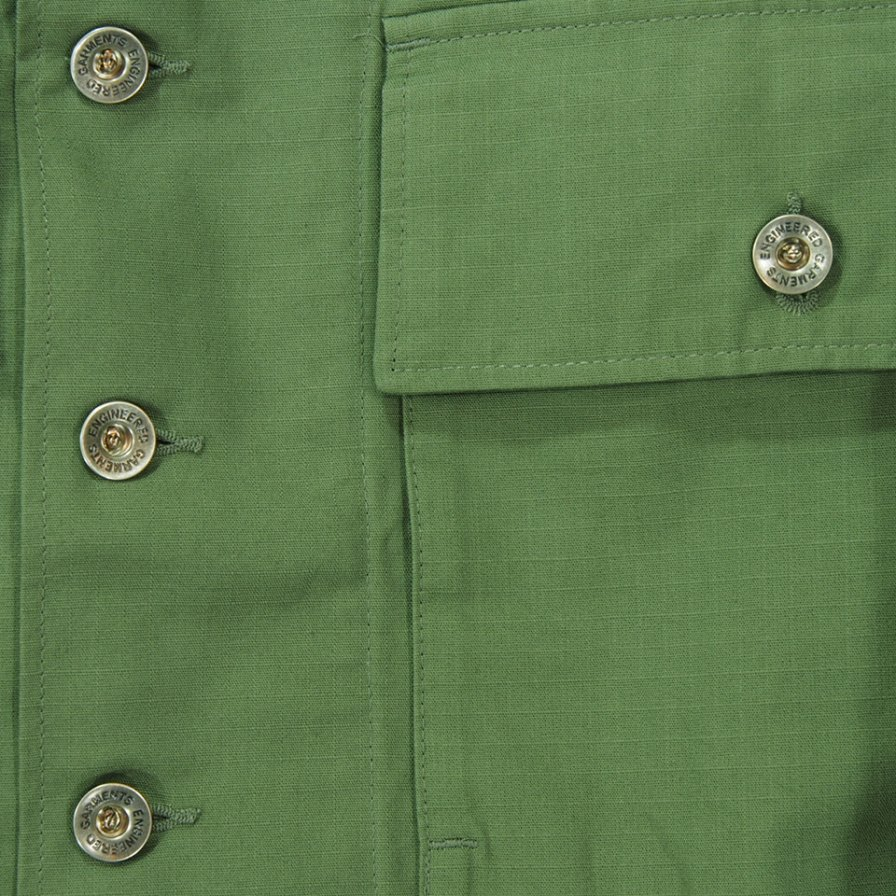Engineered Garments エンジニアドガーメンツ - M43/2 Shirt Jacket M43/2シャツジャケット - Cotton Ripstop - Olive