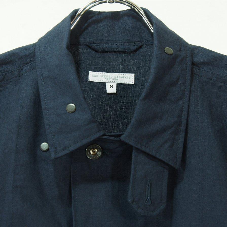 Engineered Garments エンジニアドガーメンツ - M43/2 Shirt Jacket M43/2シャツジャケット - Cotton Ripstop - Dk.Navy