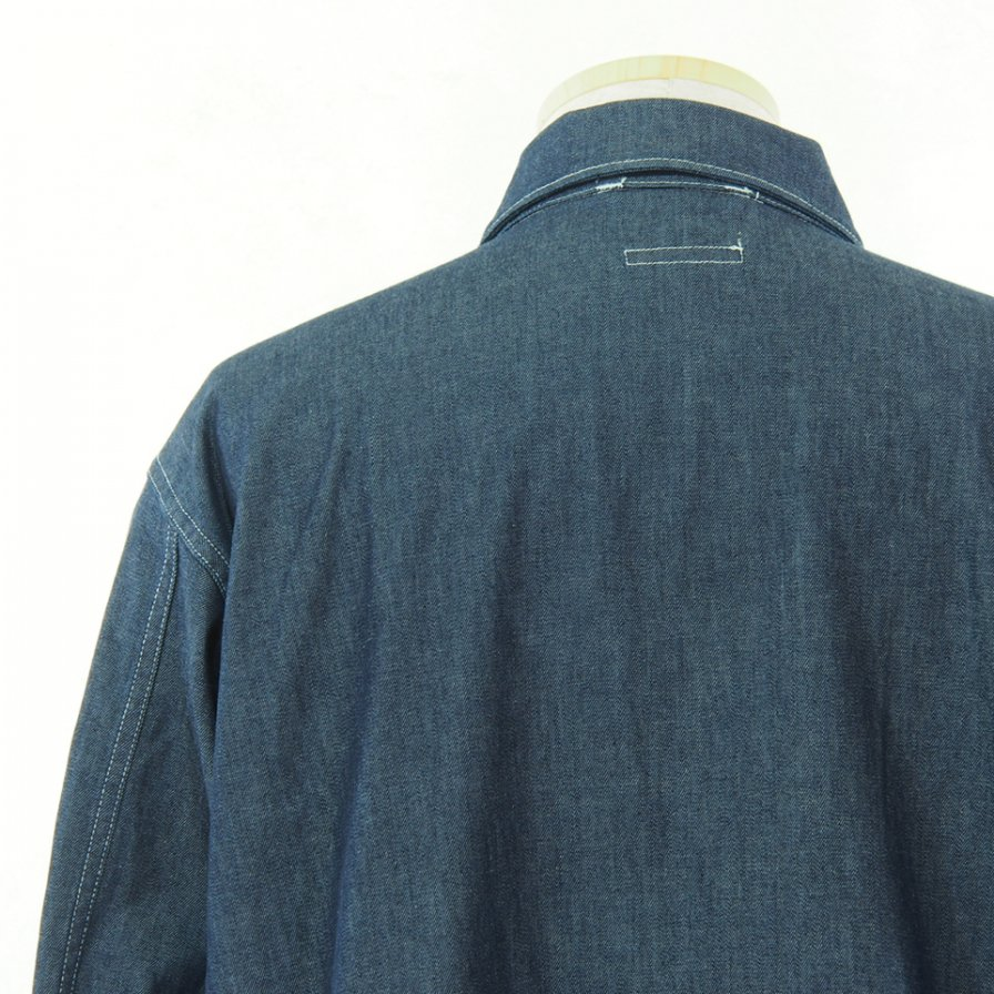 Engineered Garments エンジニアドガーメンツ - M43/2 Shirt Jacket M43/2シャツジャケット - 8oz Cone Denim - Indigo