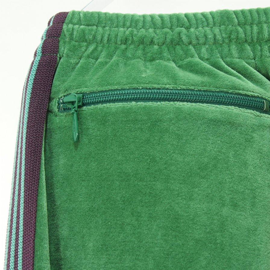 Needles ニードルズ - Narrow Track Pant ナロートラックパンツ - C/Pe Velour - Green