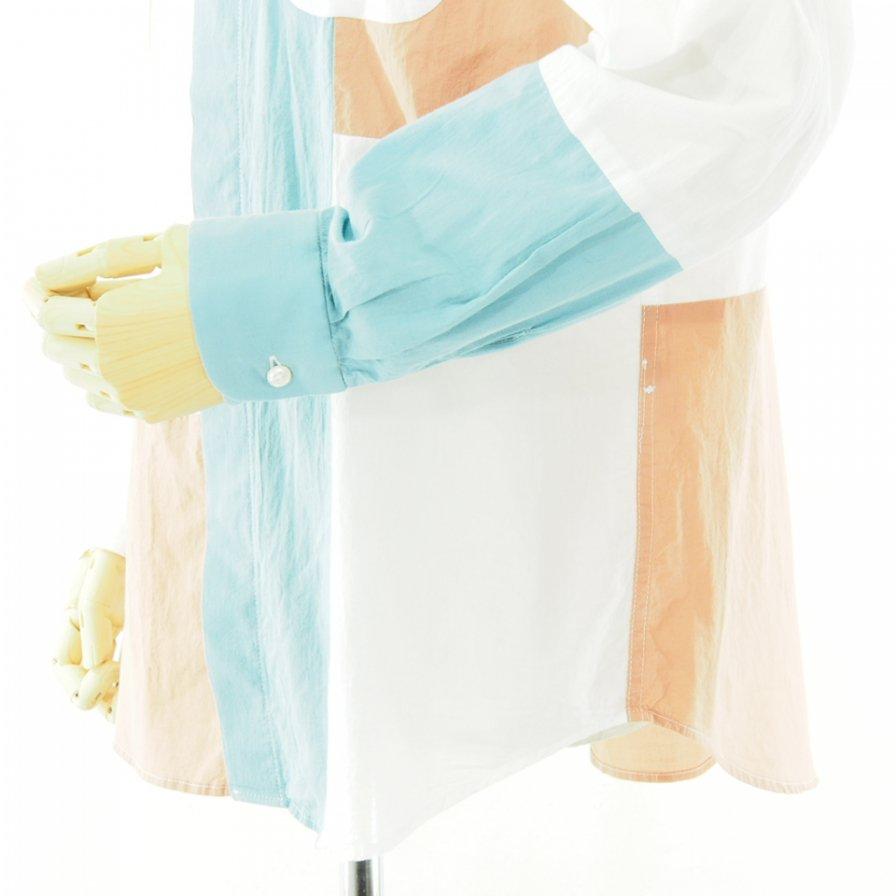 Engineered Garments エンジニアドガーメンツ - Combo Short Collar Shirt - Solid Cotton Lawn - White