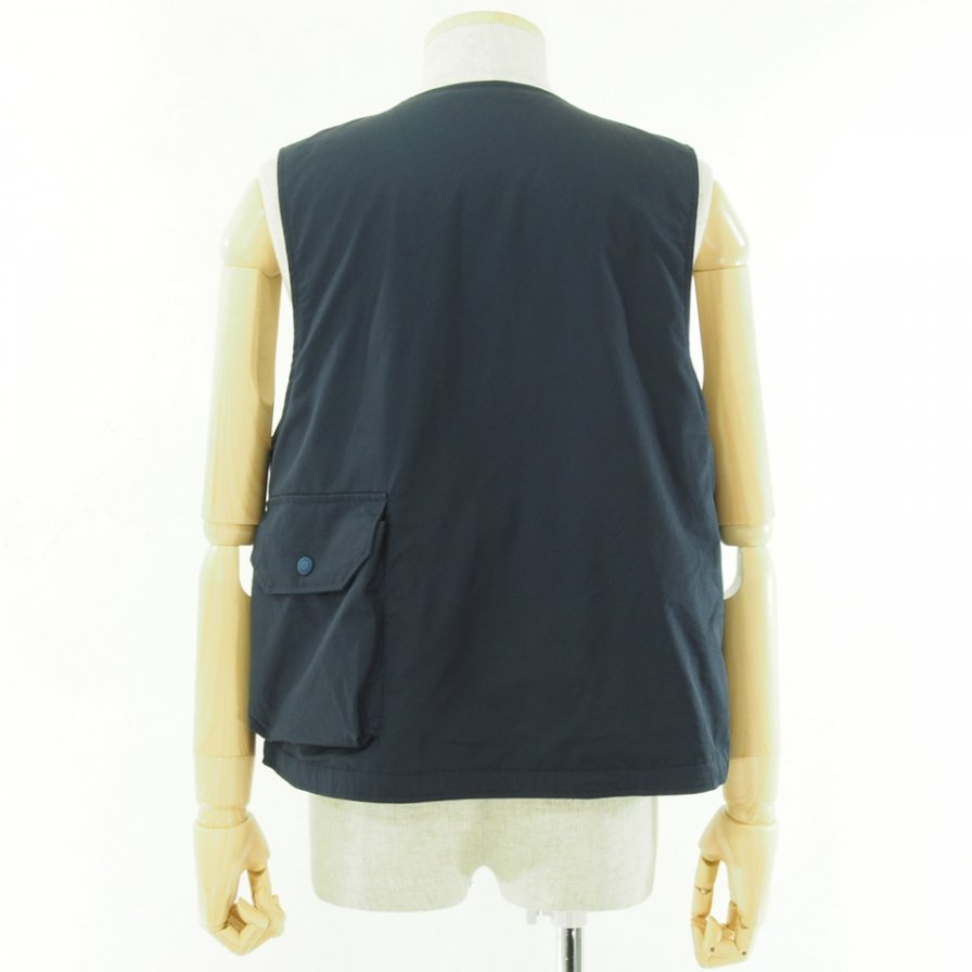 Engineered Garments - Cover Vest カバーベスト - High Count Twill - Navy