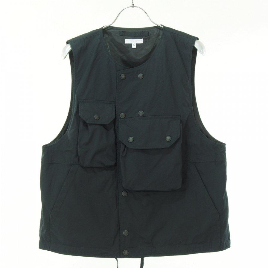 Engineered Garments - Cover Vest カバーベスト - High Count Twill - Black