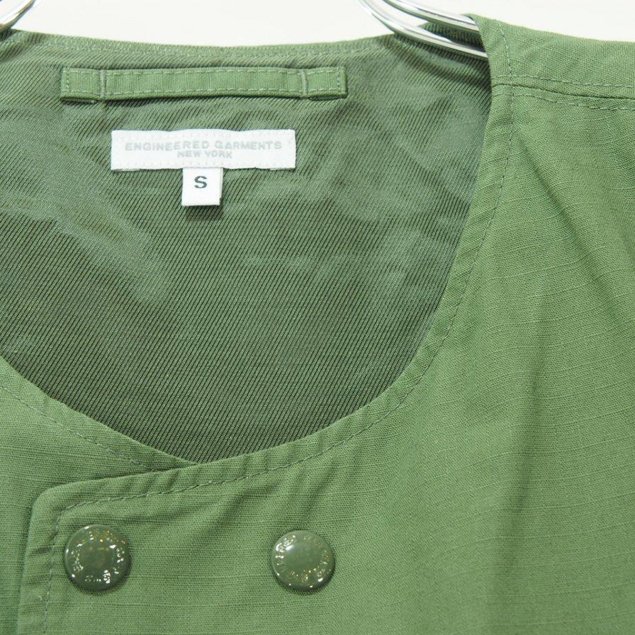 Engineered Garments - Cover Vest カバーベスト - Cotton Ripstop - Olive