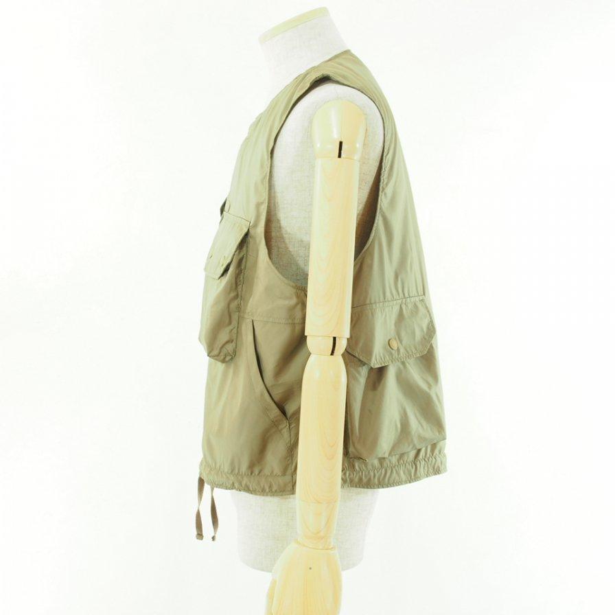 Engineered Garments - Cover Vest カバーベスト - Polyester Taffeta - Khaki