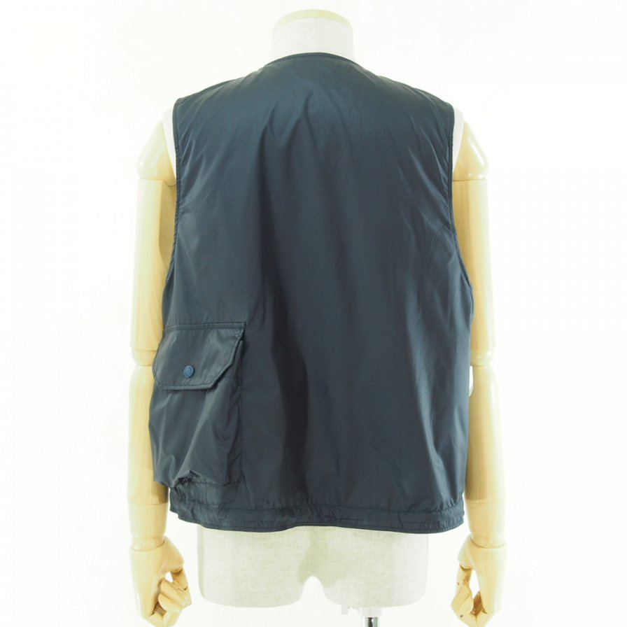 Engineered Garments - Cover Vest カバーベスト - Polyester Taffeta - Navy